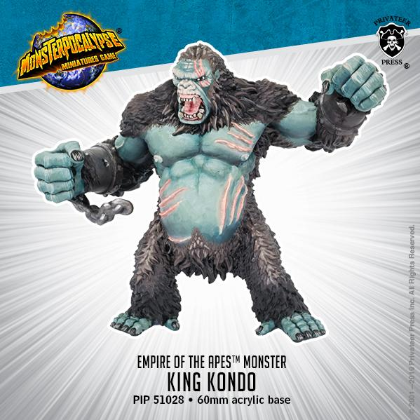 Monsterpocalypse: King Kondo – Empire of the Apes Monster (metal/resin)