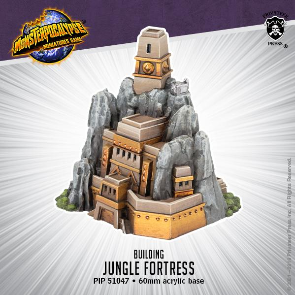 Monsterpocalypse: Buildings - Jungle Fortress (resin)