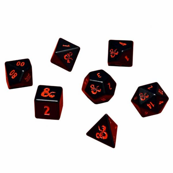 Heavy Metal Dice: Dungeons & Dragons RPG Dice Set (7)