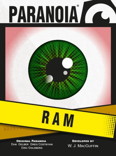 Paranoia RPG: The RAM Deck