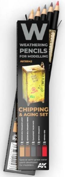 Weathering Pencils for Modelling: Chipping & Aging Set (5)