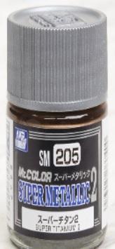 Bandai Hobby: Painting Supplies - Super Titanium 2 10ml (Box/6), GSI