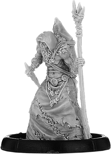 Darklands: Skullcap Domnech, Sagart of Dun Durn (resin)
