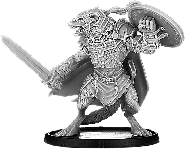 Darklands: Armoured Hrōr, Werwulf Thegn (metal)
