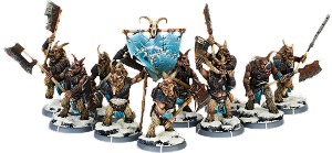 Darklands: Baagath's Herd, Gabrax Unit (10x warriors w cmd) (metal)