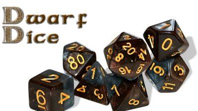 Halfsies Dice: Dwarf Dice (7 Dice Polyhedral Set)