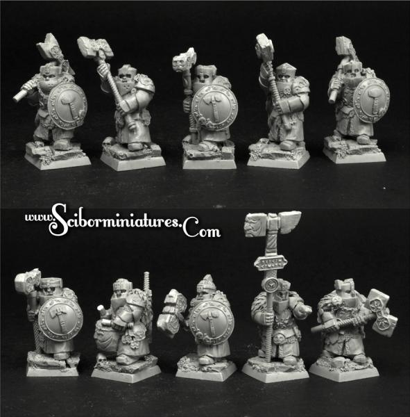 28mm Fantasy: Dwarves Hammerers Veterans (10)