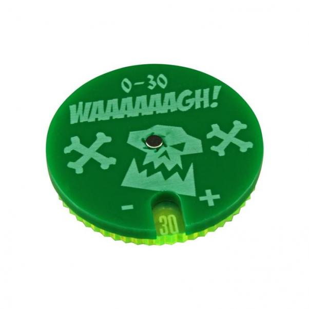 Warhammer 40,000: (Accessory) Space Orc Leadership Dial #0-30 - Green (1)