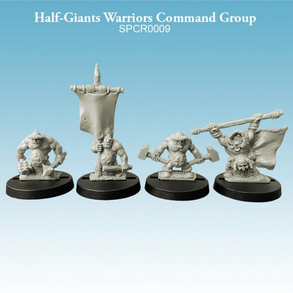 10mm scale Half-Giants - Warriors Command Group