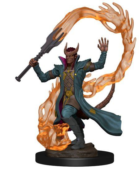 Dungeons & Dragons: Premium Pre-painted Miniatures - Tiefling Male Sorcerer (1)