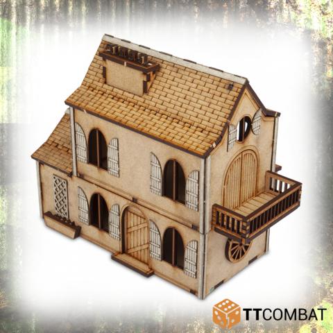 Miniature Terrain: World War Scenics - Farm House (25mm)