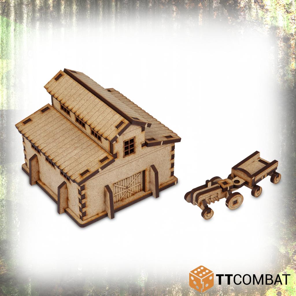 Miniature Terrain: World War Scenics - Barn (15mm)
