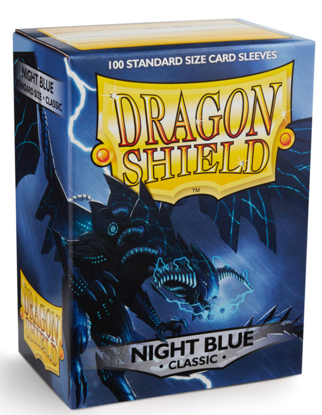 Dragon Shields: Classic Night Blue Card Sleeves (100)