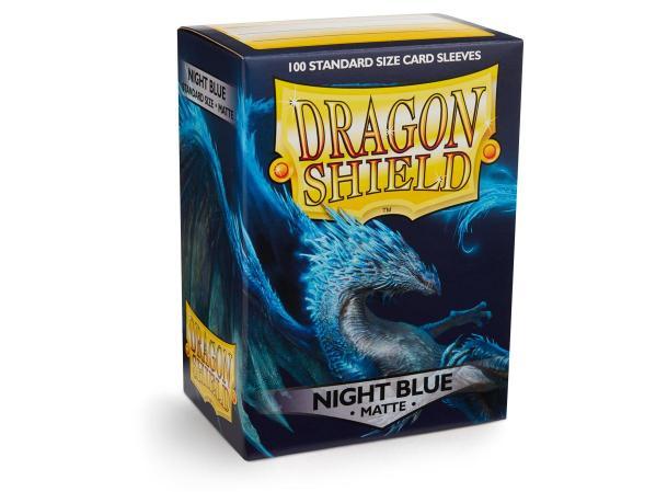 Dragon Shields: Matte Night Blue Card Sleeves (100)