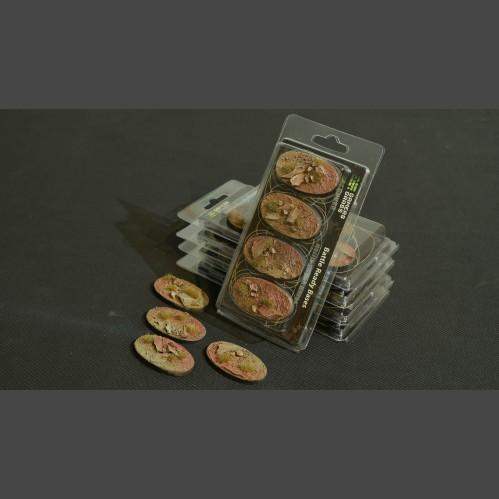 Battle Ready Bases: Badlands Oval 60mm (x4)