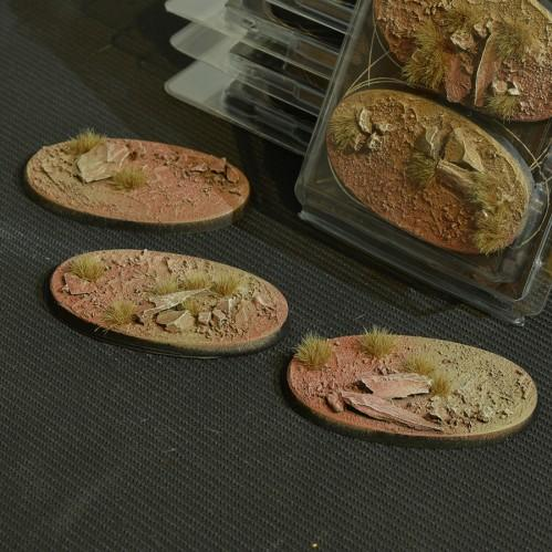 Battle Ready Bases: Badlands Oval 75mm (x3)
