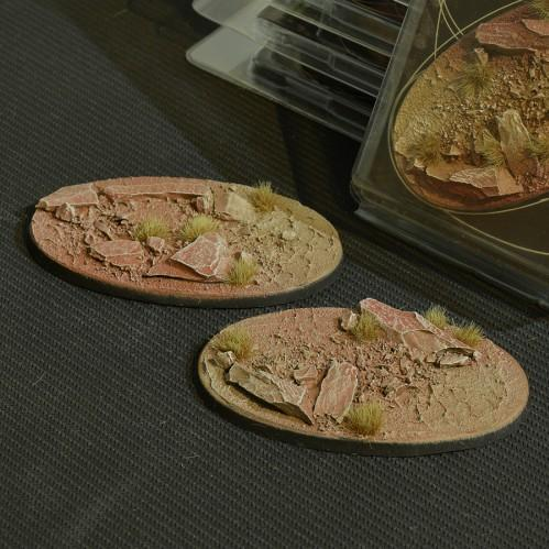 Battle Ready Bases: Badlands Oval 90mm (x2)