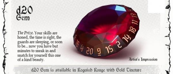 PolyHero Dice: Rogue Set - Gem d20