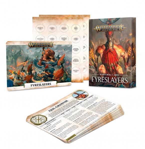 Age of Sigmar: Fyreslayers Warscroll Cards (2019)