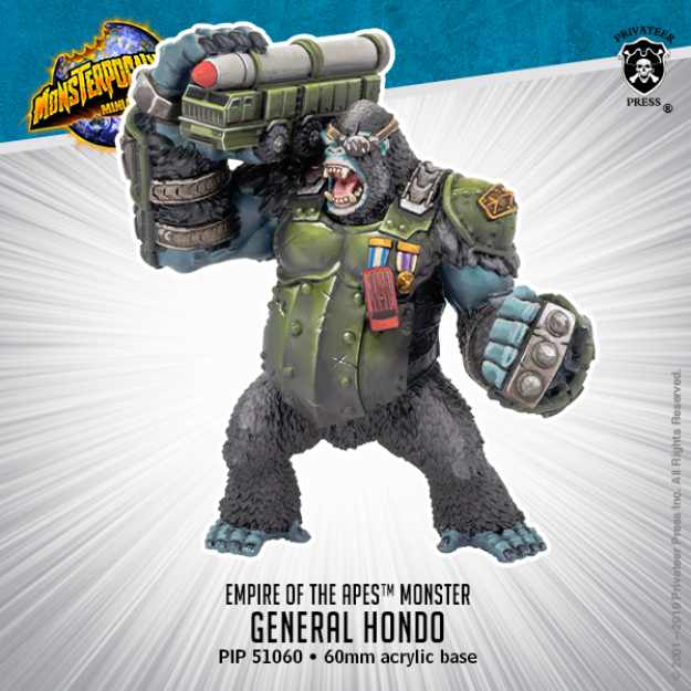 Monsterpocalypse: General Hondo – Empire of the Apes Monster (resin)