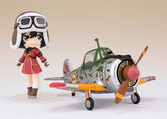 Kylie & Hayabusa (Kylie ver.) ''The Kotobuki Squadron in the Wilderness'' Bandai Figuarts Mini