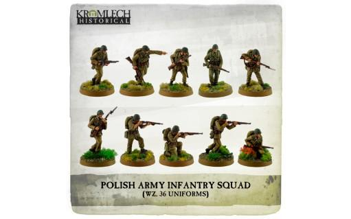 Kromlech Miniatures: Polish Army Infantry Squad (wz. 36 uniforms) (10)