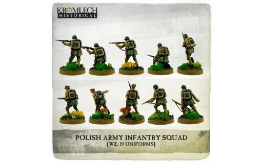 Kromlech Miniatures: Polish Army Infantry Squad (wz. 19 uniforms) (10)