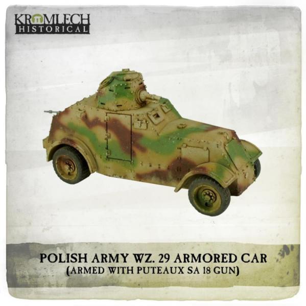 Kromlech Miniatures: Polish Army wz. 29 Armored Car