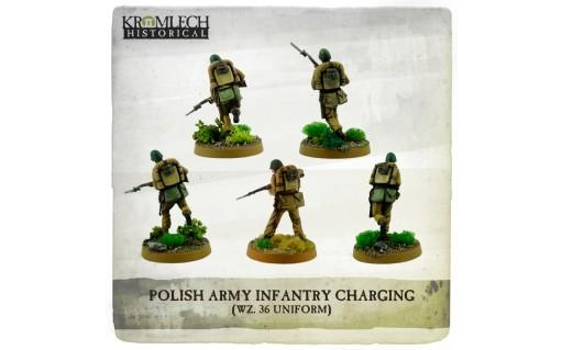 Kromlech Miniatures: Polish Army Infantry (wz. 36 uniforms) charging with rifles (5)