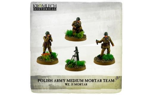 Kromlech Miniatures: Polish Army wz.31 Medium Mortar Team