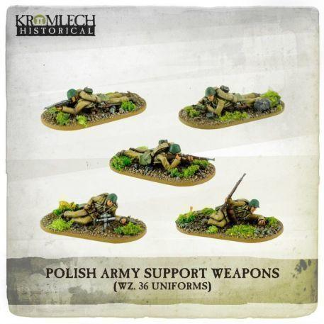 Kromlech Miniatures: Polish Army Support Teams (5)