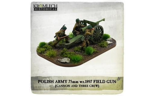 Kromlech Miniatures: Polish Army wz.1897 Schneider 75mm Field Gun with Crew
