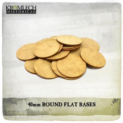 Kromlech Miniatures: 40mm Flat Bases (1.5mm HDF) (25)