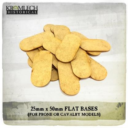 Kromlech Miniatures: 25mm x 50mm Flat Bases for Prone Models (1,5mm HDF) (25)