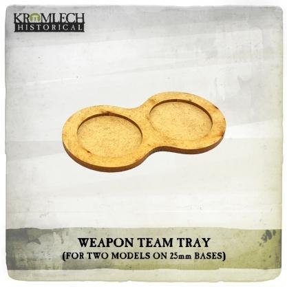 Kromlech Miniatures: Weapon Team Tray (for two models on 25mm round bases) (7)