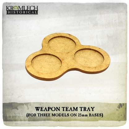 Kromlech Miniatures: Weapon Team Tray (for three models on 25mm round bases) (5)