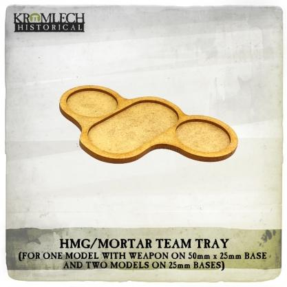 Kromlech Miniatures: HMG/Mortar Team Tray (for three models and weapon) (4)