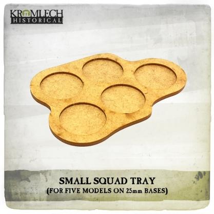 Kromlech Miniatures: Small Squad Tray (for 5 models on 25mm round bases) (3)