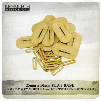 Kromlech Miniatures: 25mm x 50mm Flat Cavalry Bases (1,5mm HDF) 20x