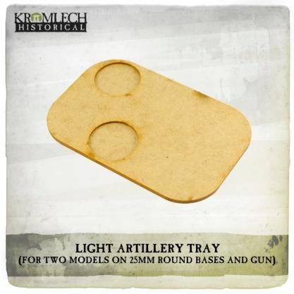 Kromlech Miniatures: Artillery Tray (for two models on 25mm round bases and gun) (3)