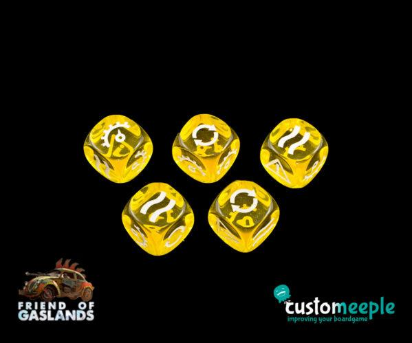 Gaslands: (Accessory) GASLANDS COMPATIBLE DICE ''BASIC'' (5 Units)