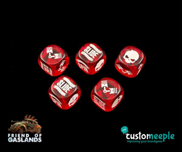 Gaslands: (Accessory) GASLANDS COMPATIBLE DICE ''POST APOCALYPTIC'' (5 Units)