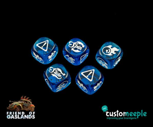 Gaslands: (Accessory) GASLANDS COMPATIBLE DICE ''LOW RIDERS'' (5 Units)