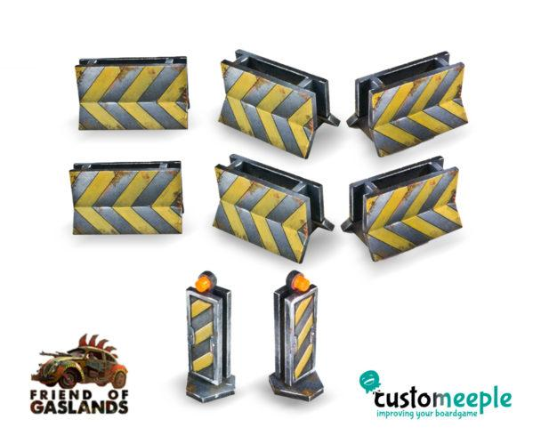 Gaslands: (Accessory) GASLANDS COMPATIBLE CRASH BARRIERS (6 Units)