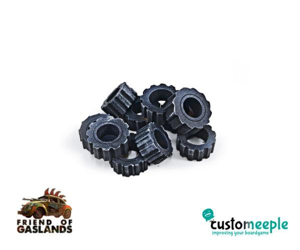 Gaslands: (Accessory) GASLANDS COMPATIBLE SCRAPEYARD TIRES