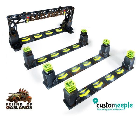 Gaslands: (Accessory) GASLANDS COMPATIBLE CHECKPOINT GATES (4 Units)