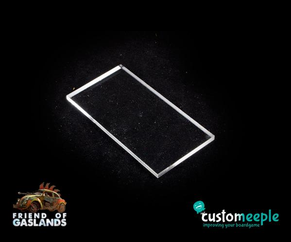 Gaslands: (Accessory) GASLANDS COMPATIBLE Bases MONSTER TRUCK/TANK (Transparent)