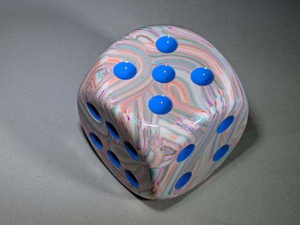 Chessex Dice Sets: Festive™ 50mm Pop Art™/blue d6