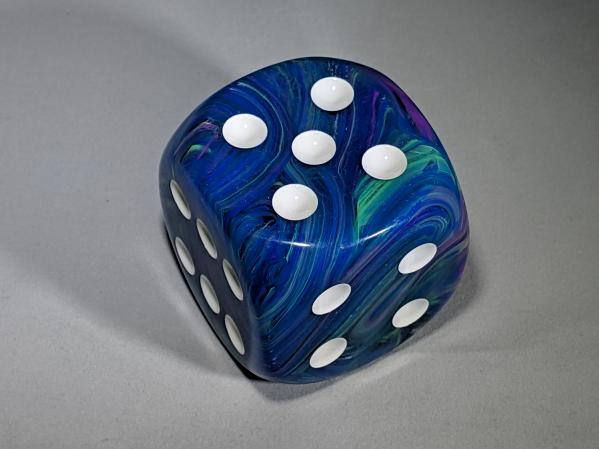 Chessex Dice Sets: Festive™50mm Waterlily™/white d6
