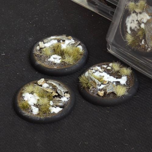 Battle Ready Bases: Winter Round Lip 50mm (x3)